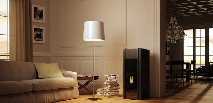Stufe a pellet e caminetti riscaldare con un tocco di design for Piani di casa con portici e caminetti