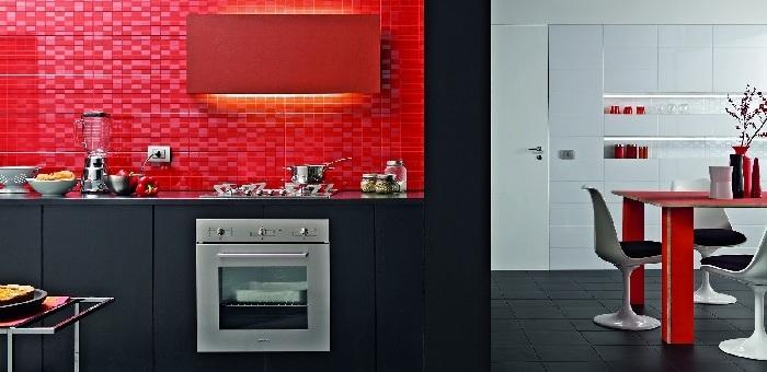 Casa moderna, Roma Italy: Altezza piastrelle cucina