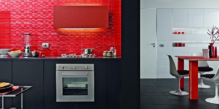 Rivestimenti e piastrelle in cucina guida alla scelta giusta - Piastrelle rosse lucide ...