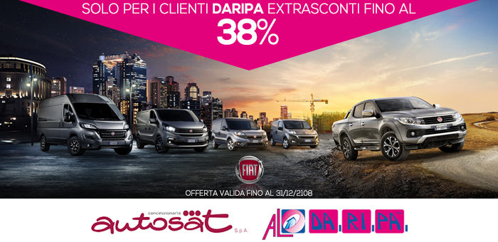 Rinnovata la promozione Autosat-Daripa: sconti sulla gamma Fiat Professional