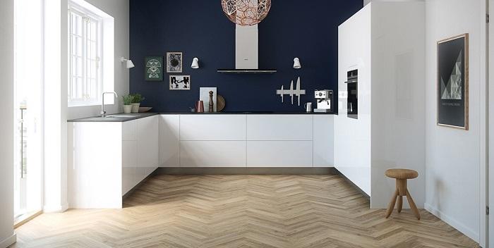 Pavimento effetto legno cucina perfect stunning for Arredo bagno aziende produttrici